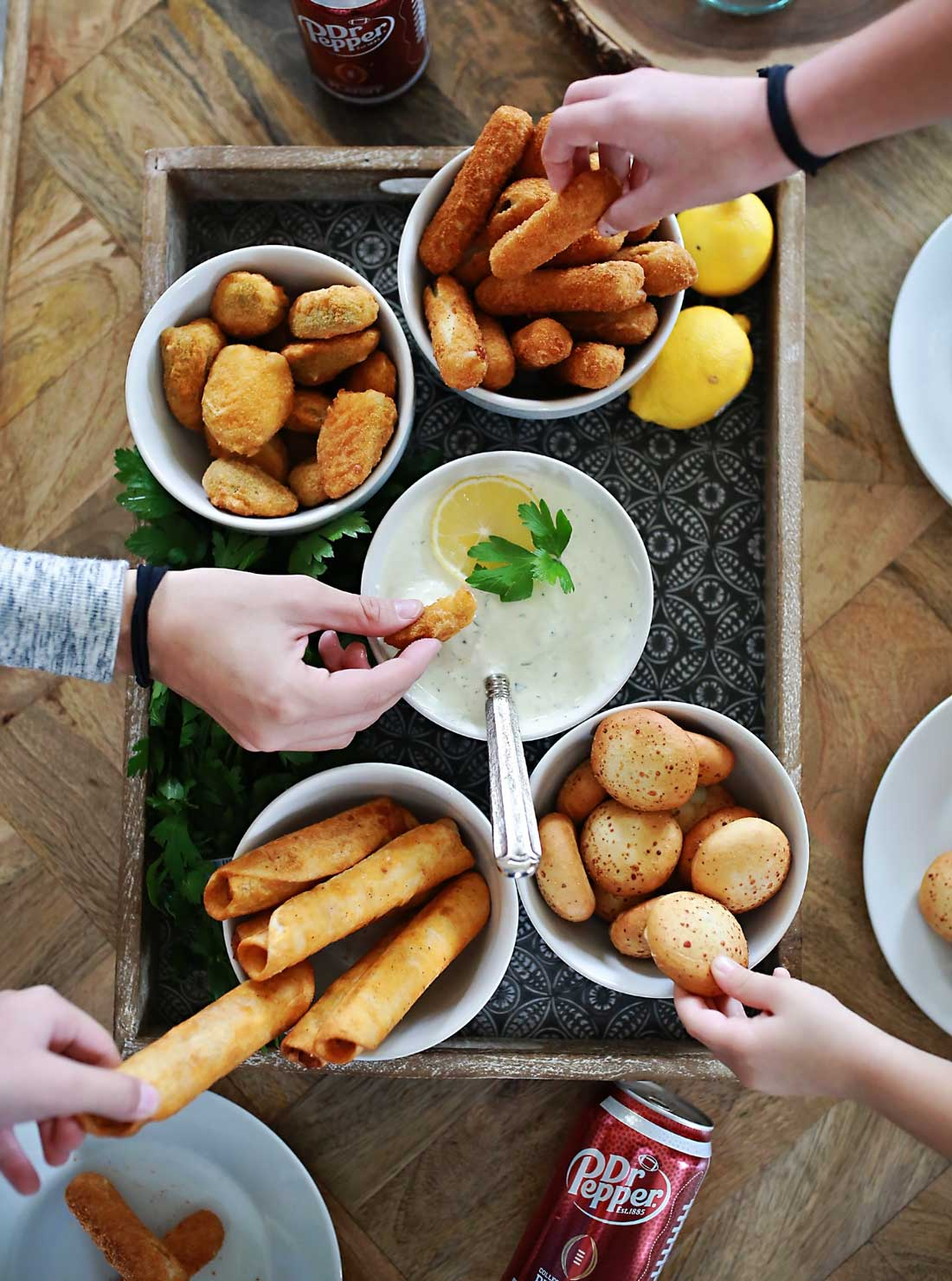 Best ever homemade buttermilk ranch and finger foods!