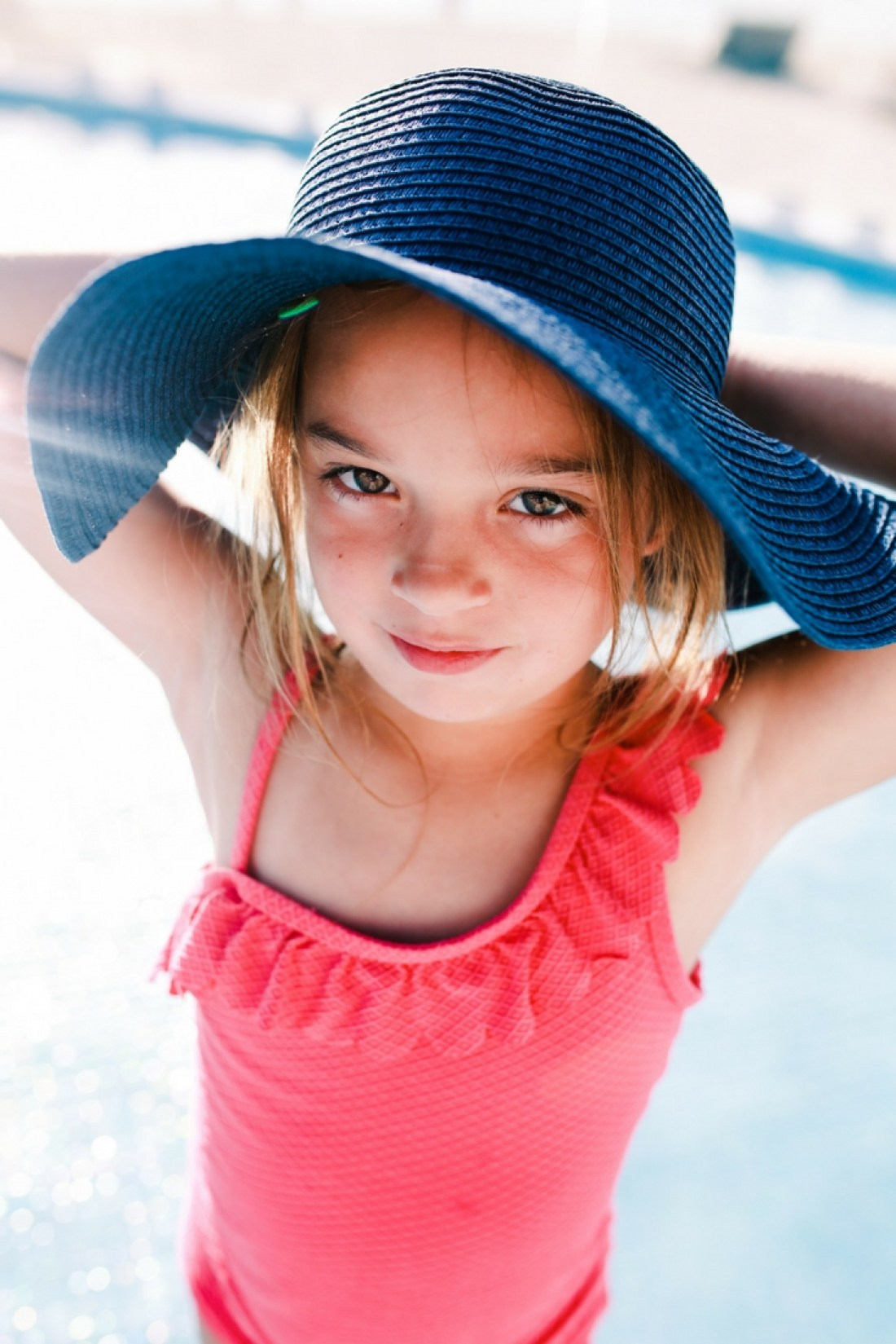 Cute kids hat for the beach and pool
