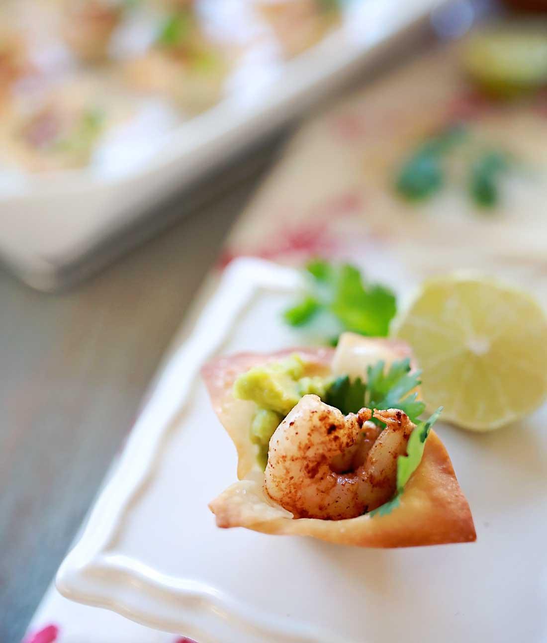 Sooo good Avocado ad spicy shrimp bites!