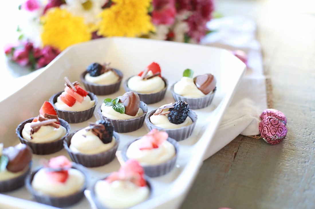 Miniature No Bake Chocolate Cheesecakes Tangled With Taste