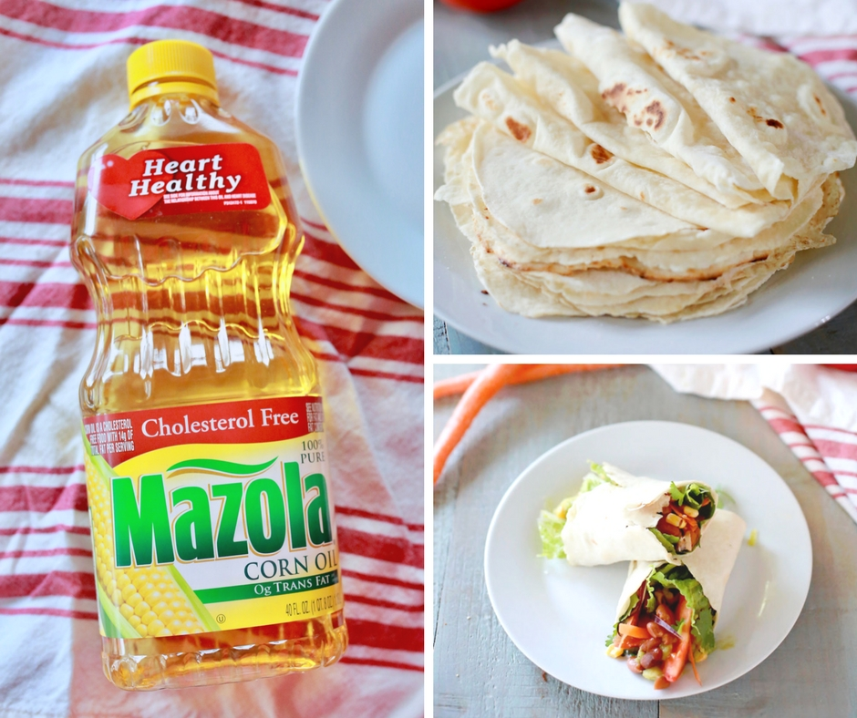 Mazola Cooking oil in place of Lard- makes for lighter and totally awesome homemade tortillas!!! #ad #simpleswap