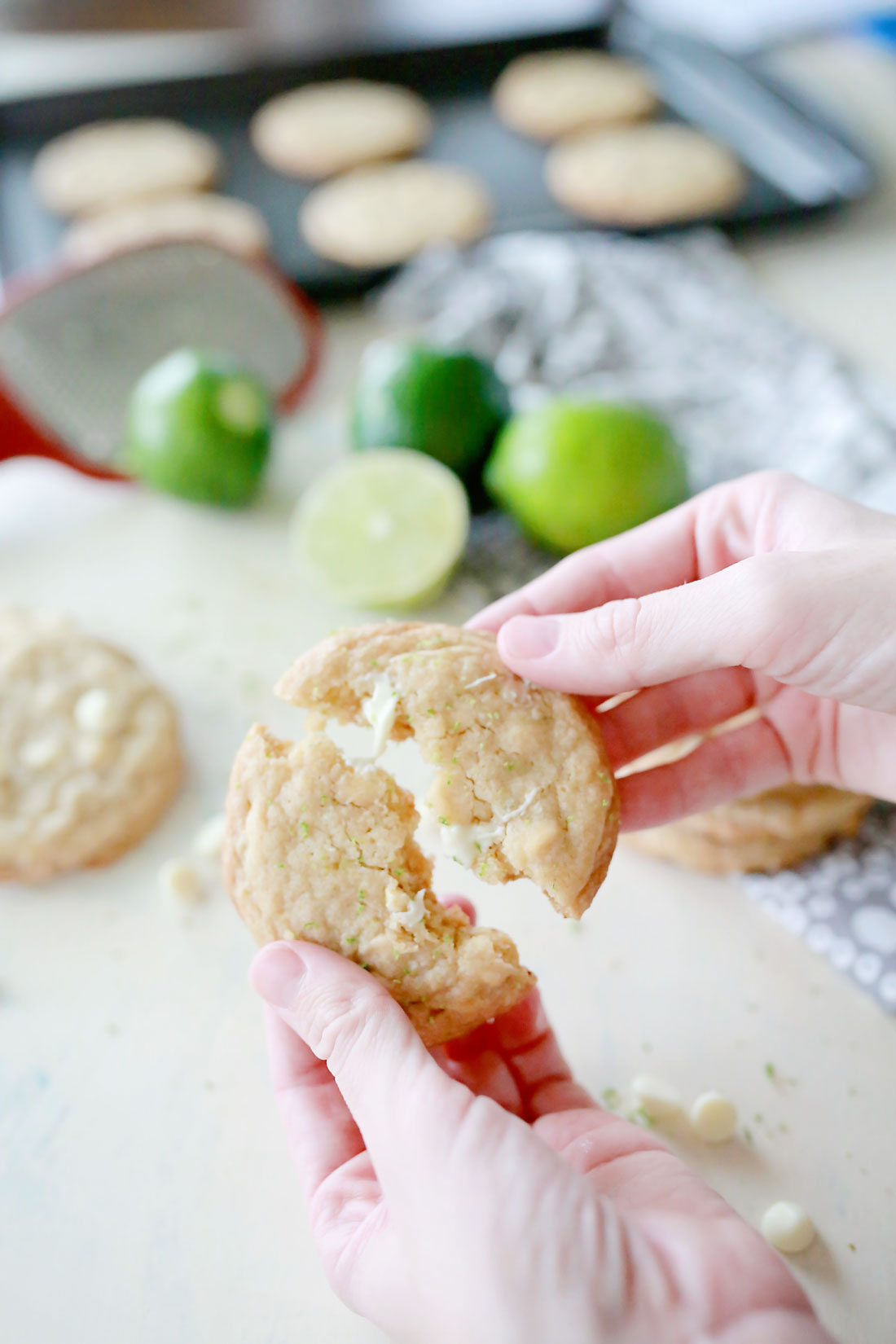 best cookies ever. Recipe for the most amazing white chocolate lime cookies.