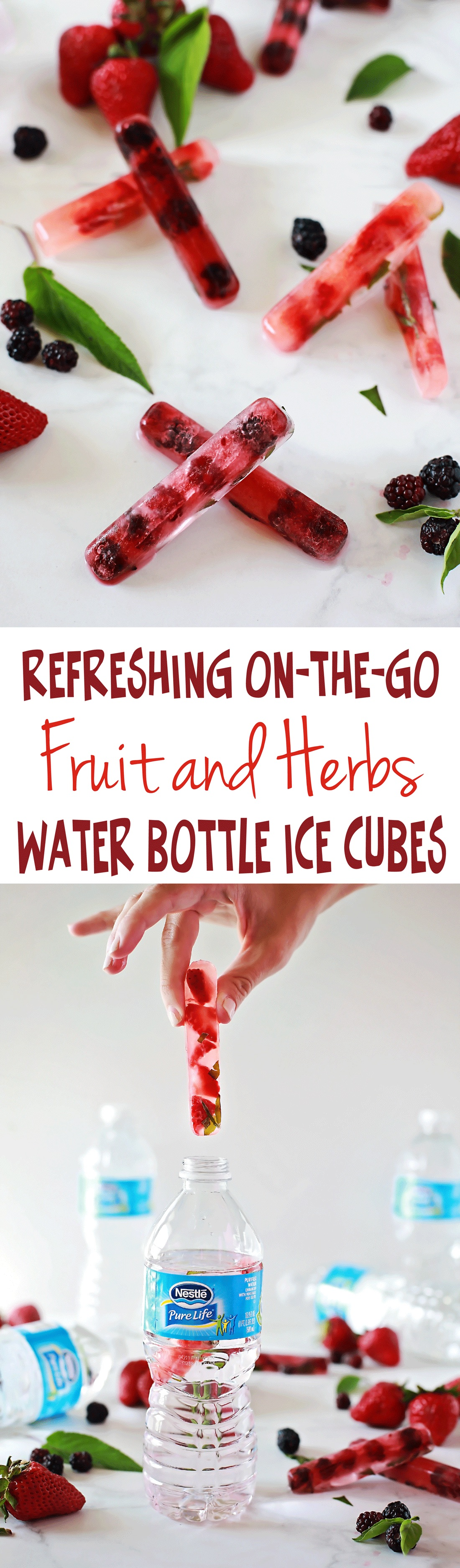 The best fruit ice cubes and herb ice cubes. Tutorial for fruit and herb ice cubes!