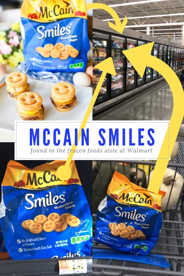 Mccains smiley potatoes