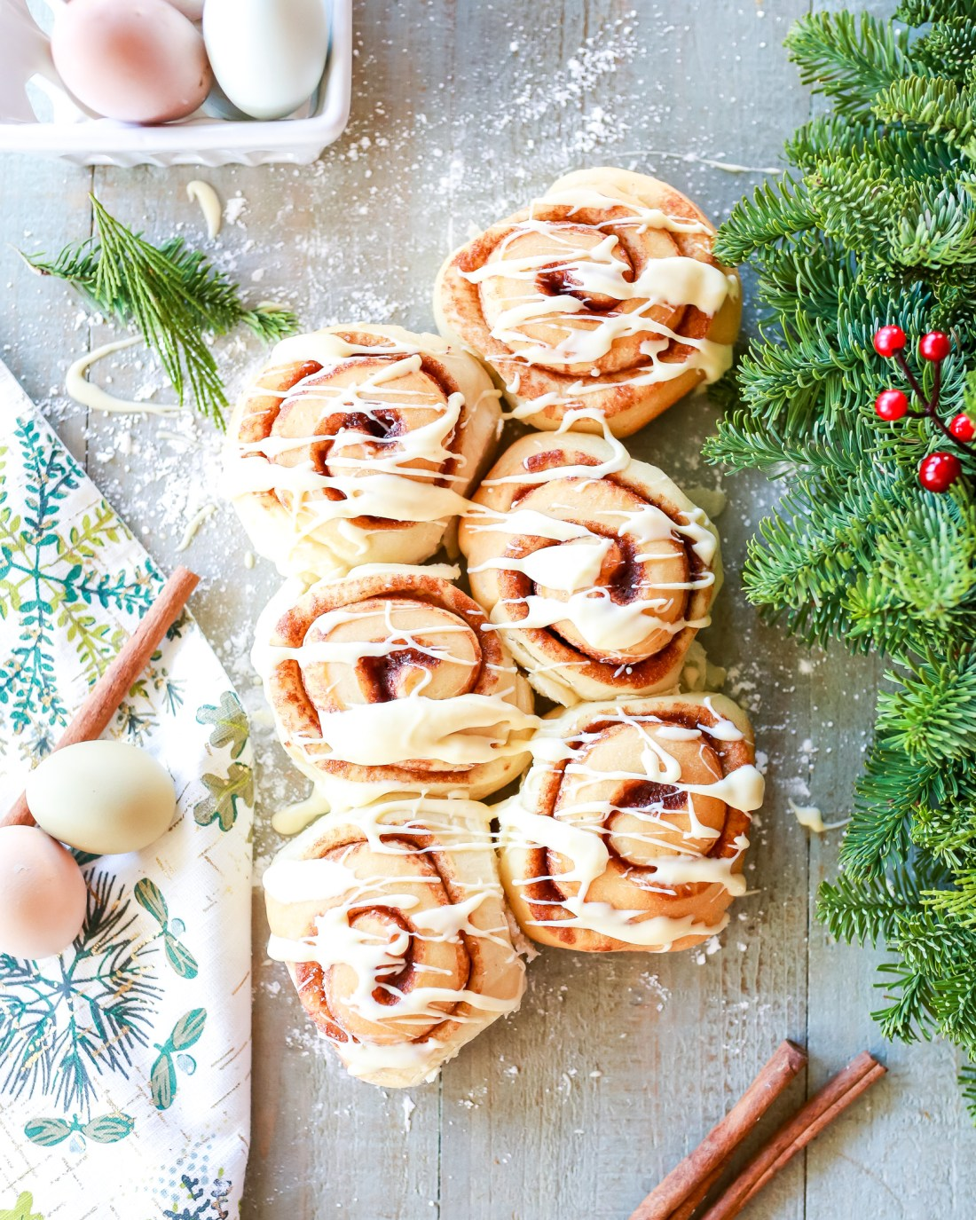 The most incredible cinnamon rolls ever of all time: eggnog cinnamon rolls