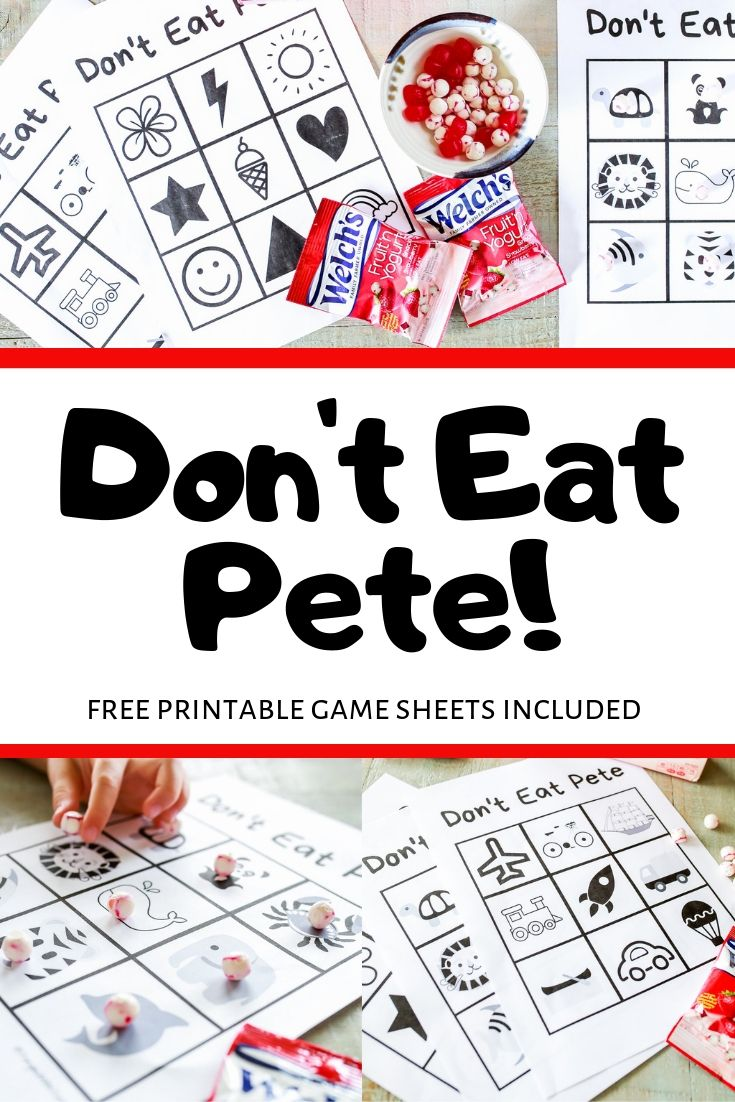 picture relating to Don't Eat Pete Printable titled Dont Take in Pete Printable Recreation Tangled with Style
