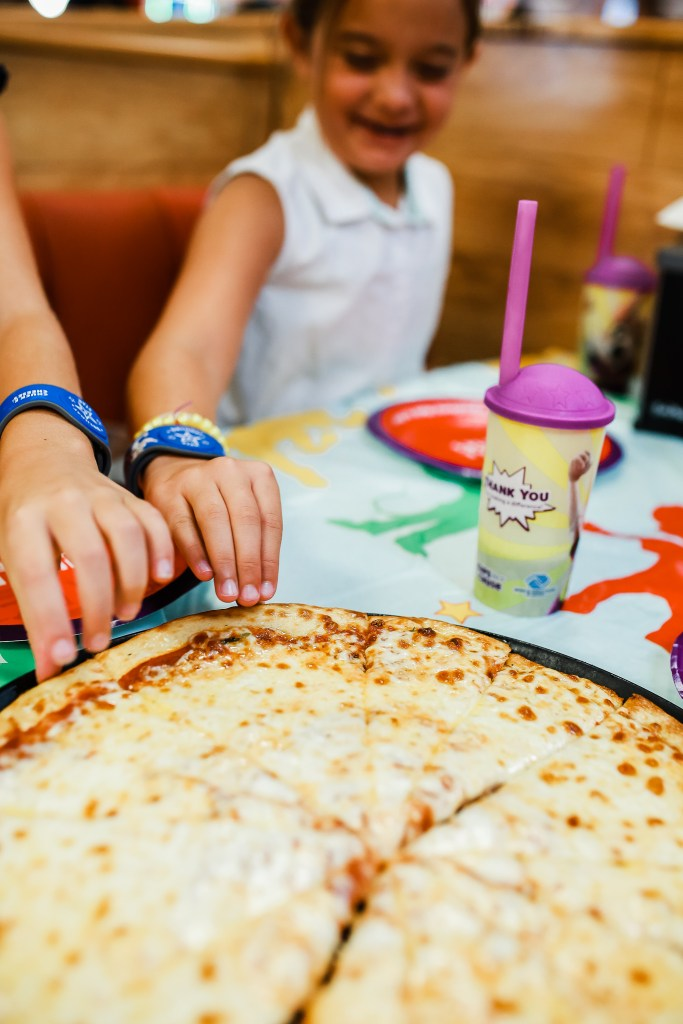 The Pizza at Chuck E. Cheese is our favorite!