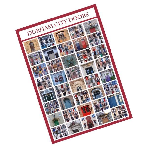 Durham City poster featuring doors
