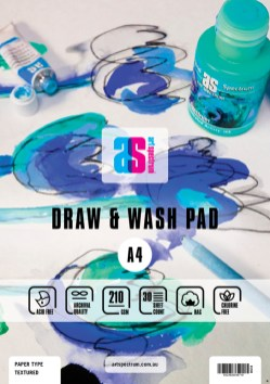 AS Art Spectrum Draw and Wash Pad - A4 210gsm Textured