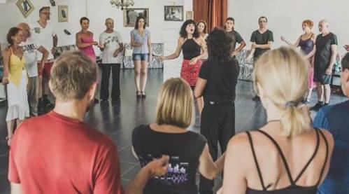 tango münchen - Fabian und Michaela beim Unterricht