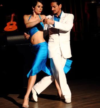 Tango München - Fabian und Michaela während einer Show