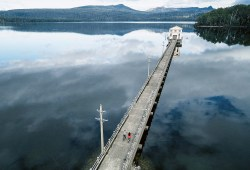 Pumphouse Point Lake St. Clair, Tasmanien, Australien Architekt: Cumulus Studio Foto: Adam Gibson, Tasmanien