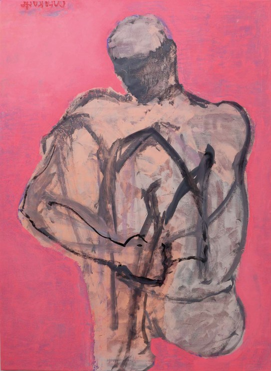»Visionary man«, Öl auf Leinwand · 160 x 117 cm