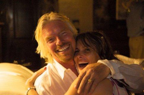 Sir Richard Branson and Teresa Rodriguez Williamson