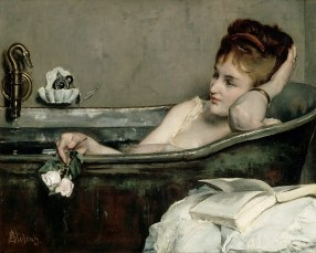 The Bath (1867) Alfred Stevens (1823-1906). Oil on canvas, 29 1/8 x 36 5/8 inches. RMN (Musée d'Orsay)/Hervé Lewandowski