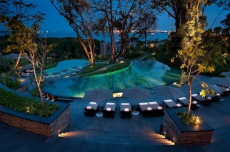 Capella Singapore_Cascading Pools at dusk Low Res