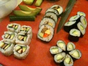 Some of Mari's sushi