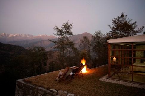 Dusk on private terrace