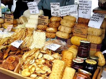 Oscypek cheese stall