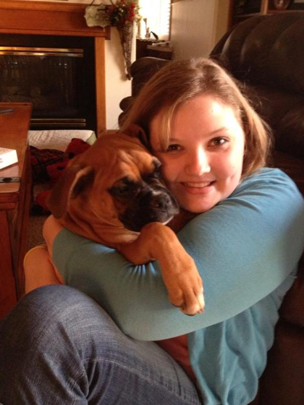 Me and my boxer, Peanut
