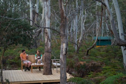 Relaxing in the wilderness with The Maria Island Walk