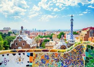Parque Guell by Gaudi-Barcelona
