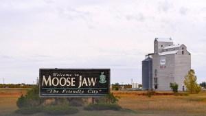 Welcome, sign, moose jaw, saskatchewan, canada,