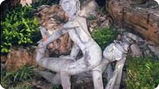Ancient Statue portraying Thai Massage