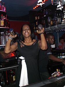 Our fabulous bartender, Lexys Piano Bar