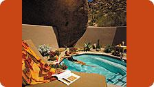 Woman in Sedona suite Plunge Pool