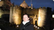 Lucy at Stirling Castle at Night