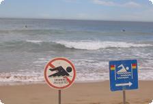 A rip at Manly Beach
