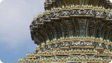 Close up of Wat Po's roof