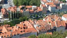 Ljubljana city centre from the castle