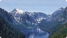 The Alaskan mountains.