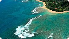 North Shore from Helicopter