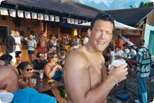 Tim drinking in Turks and Caicos