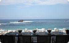 Tables at the Bahia restaurant