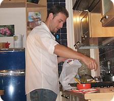 Matt as an Italian Chef