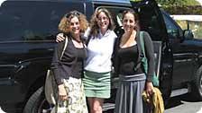 Mom, Myself and Corey with Limo