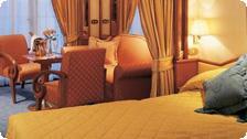 A room on a Silversea boat.