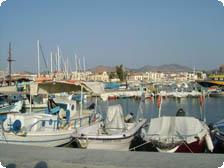 Sunlight Harbour of the Greek Island
