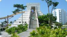Water slide at the Grand Mayan