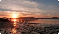 Sunset over Belfast Lough