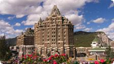 The Fairmont Hotel in Banff Springs