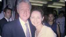 Allison with Bill Clinton in Hong Kong