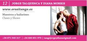 Jorge Talquenca y Diana Morris