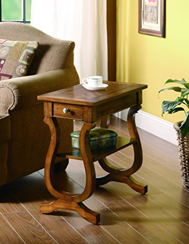 Coaster Company of America Warm Brown Chairside End Table | Tango Furniture