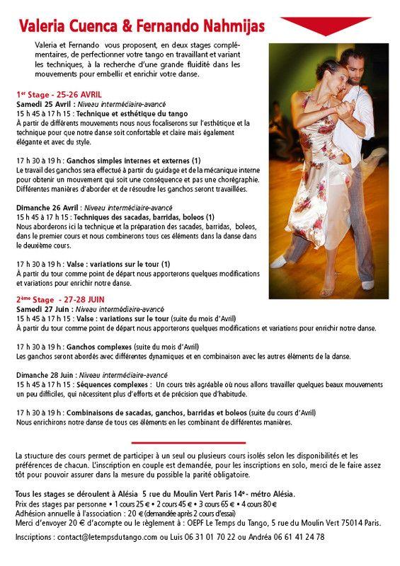 Les Plus Beaux Tangos Pour Danser : beaux, tangos, danser, Stage, Tango, Maestros