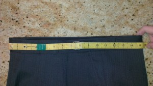 2 - Measure diameter of Waist and multiply by 2 for circumference